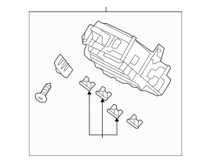 2013-2014 Honda Box Assembly, Fuse (Rewritable) 38200-T2A