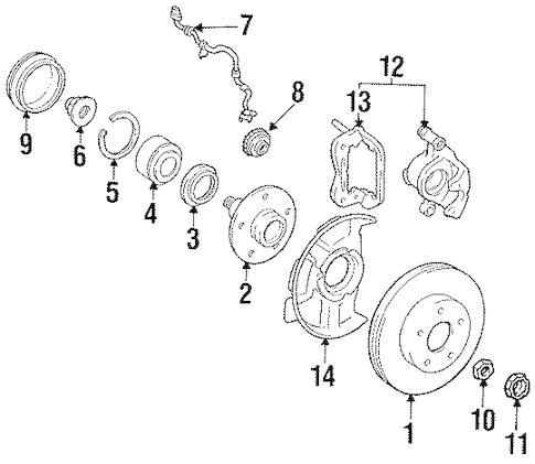 Genuine OEM Anti-Lock Brakes Parts for 1993 Toyota Previa