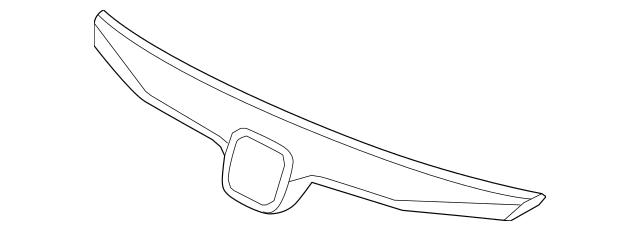 OEM Honda Molding, Front Grille *NH547* (Berlina Black