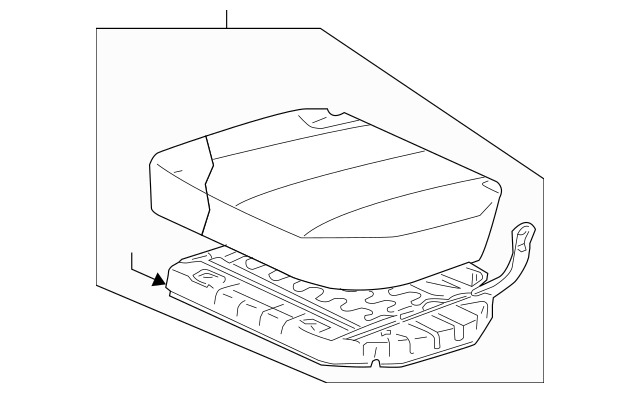 2004-2007 Mitsubishi Endeavor Cushion Assembly MR966153HA