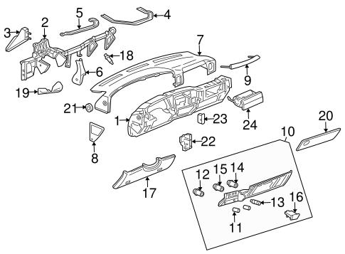 OEM 2006 Chevrolet Silverado 1500 Instrument Panel Parts