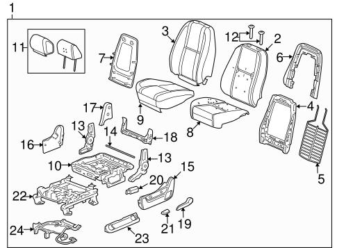 OEM 2013 Chevrolet Silverado 1500 Front Seat Components