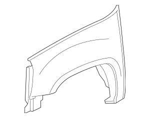 Genuine OEM Fender Part# 22977473 Fits 2007-2014 Chevrolet