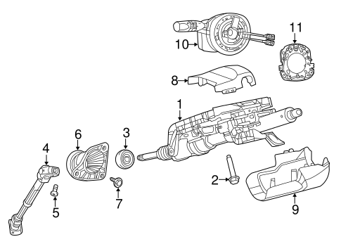 Steering Column Assembly for 2014 Jeep Grand Cherokee
