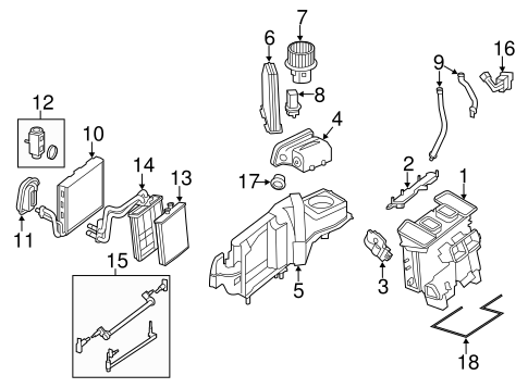 Evaporator & Heater Components for 2013 Mercedes-Benz E