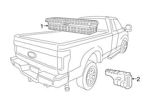 Storage Compartment for 2019 Ford F-350 Super Duty