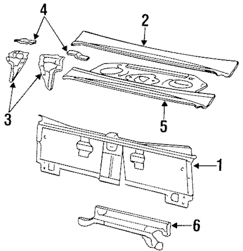 REAR BODY for 1999 Buick LeSabre