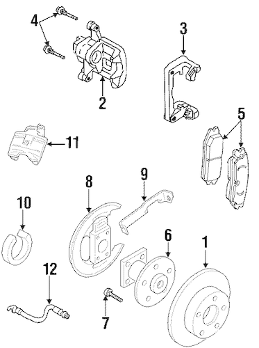 OEM BRAKE COMPONENTS for 2002 Pontiac Grand Prix