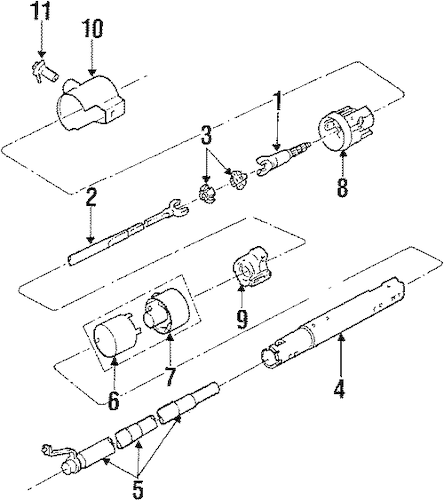 STEERING COLUMN ASSEMBLY Parts for 1988 Buick Electra