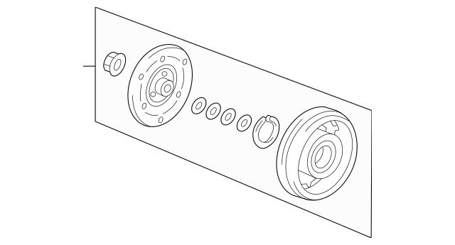 Genuine 2012-2015 Honda CIVIC HYBRID SEDAN Clutch Set