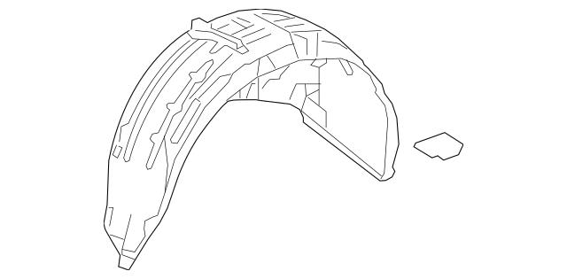 Honda Fender Assembly, R Rear (Inner) (74550-TLA-A50