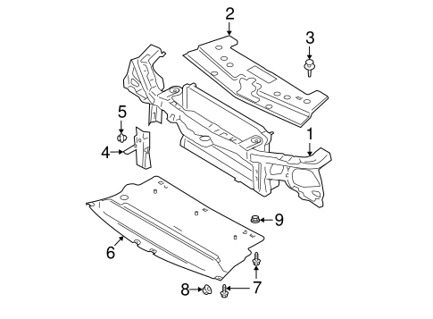 RADIATOR SUPPORT for 2006 Ford Mustang