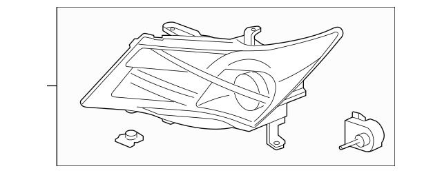 Up To 35% Off Original Headlight Unit, L Part # 33151-STX