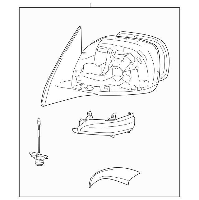 Genuine OEM Mirror Part# 87940-60P80 Fits 2014-2019 Lexus