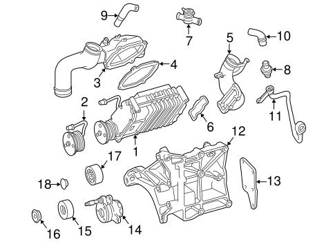 Supercharger & Components for 2000 Mercedes-Benz SLK 230