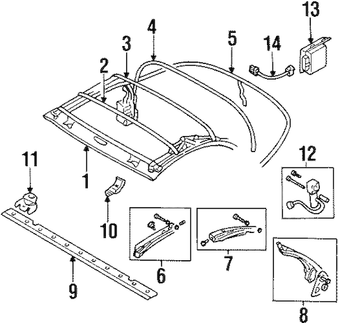 FRAME & COMPONENTS for 1996 Mitsubishi Eclipse
