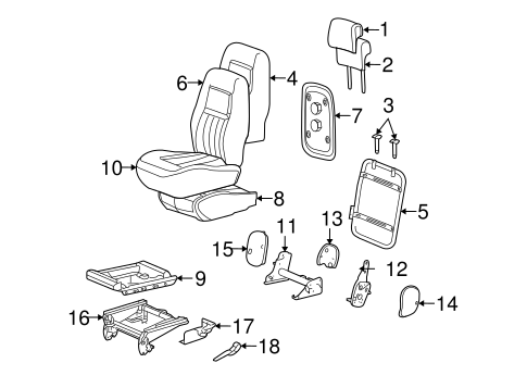 OEM REAR SEAT COMPONENTS for 2007 Chevrolet Uplander