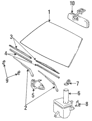Wiper & Washer Components for 1985 Toyota Celica