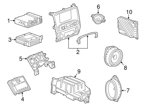 OEM 2014 Chevrolet Silverado 1500 Sound System Parts