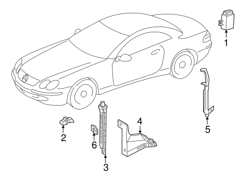 Tire Pressure Monitor Components for 2006 Mercedes-Benz