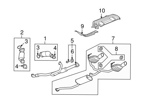 OEM 2008 Buick Enclave Exhaust Components Parts