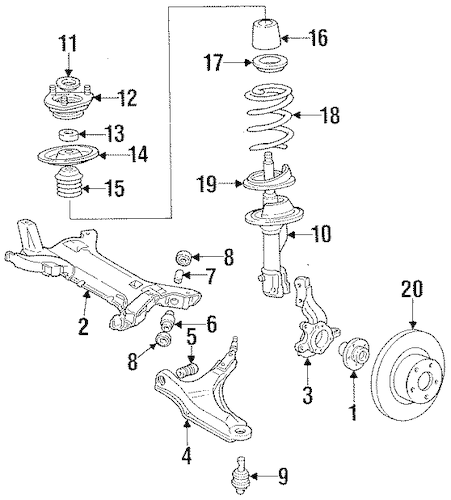 FRONT BRAKES for 1989 Chrysler TC Maserati