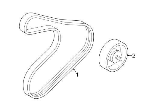 Accessory Drive Belt System Components for 2012 Hyundai