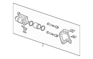 2010-2012 Acura RDX 5-DOOR Caliper Sub-Assembly, L Rear