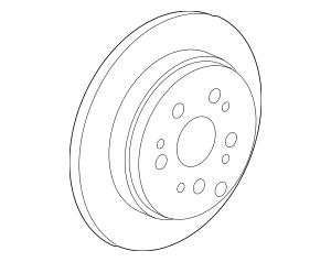 2007-2009 Acura RDX 5-DOOR Disk, Rear Brake Drum In 42510