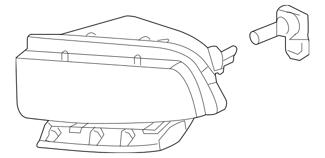 2005-2013 Chevrolet Corvette Fog Lamp Assembly 25942593
