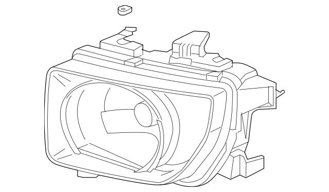 2003-2006 Honda ELEMENT 5-DOOR Headlight Unit, L 33151-SCV