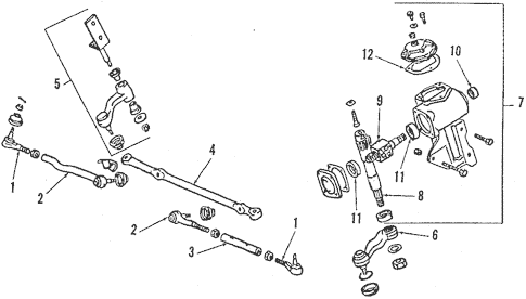 Steering Gear & Linkage for 1989 Mitsubishi Montero