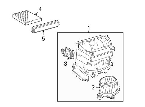 Genuine OEM Blower Motor & Fan Parts for 2011 Toyota