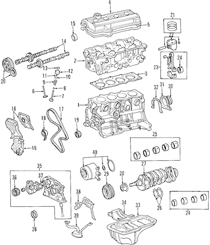 Genuine OEM Oil Pan Parts for 1998 Toyota RAV4 Base