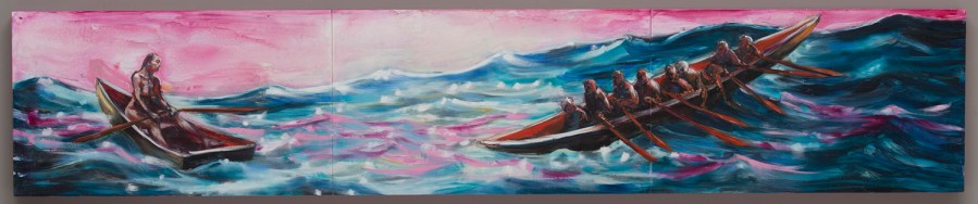 Pink Boat 2 oil on canvas 2016