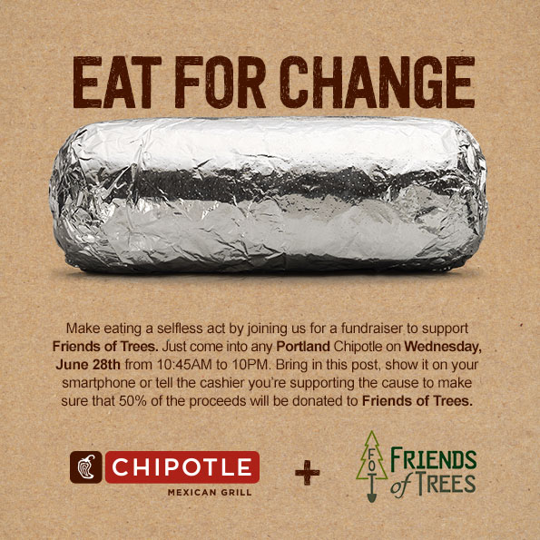 Chipotle Sales to Benefit Friends of Trees