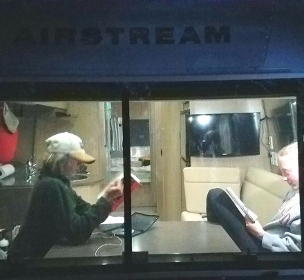A late night in the Airstream