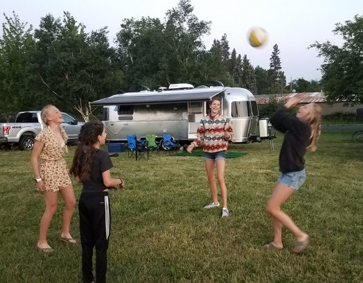 Volleyball with the girls