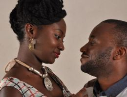 couple africain amour tendres