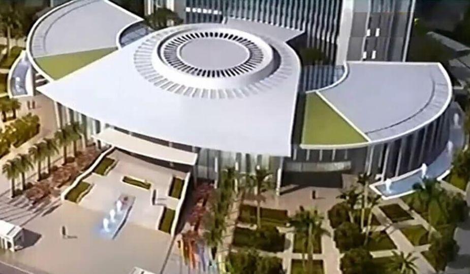 Maquette du futur siège de la nouvelle Assemblée nationale du Cameroun
