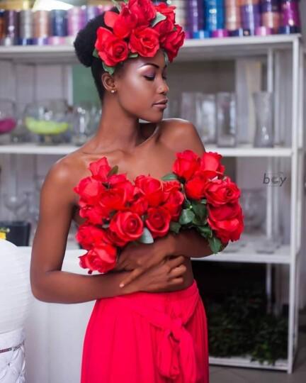 Miss Cameroun 2020 Audrey Nabila Monkam en cheveux naturels