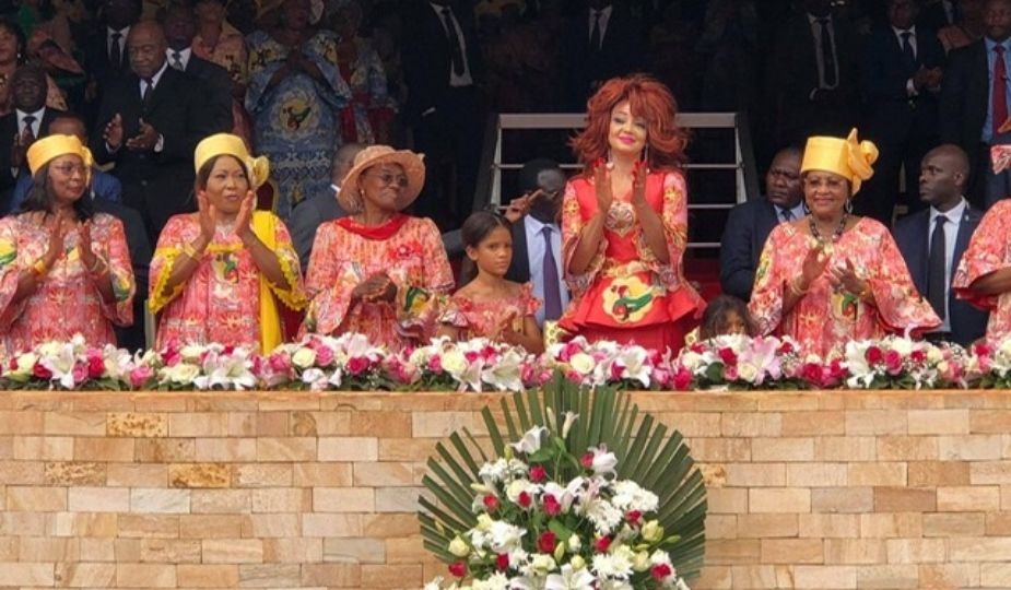 Cameroun : La Première Dame Chantal Biya présidant le défilé du 8 Mars 2020 au Boulevard du 20 Mai - Yaoundé. Photo @Crtv