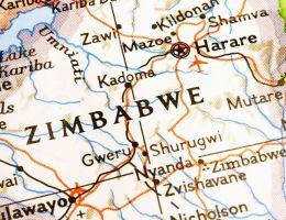 Zimbabwe carte - Harare map