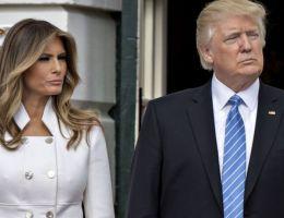 Donald Trump, président des États-Unis et sa femme Melania Trump