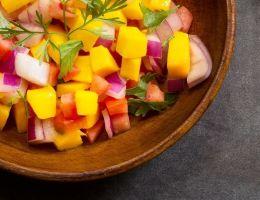 Salade papaye + mangue