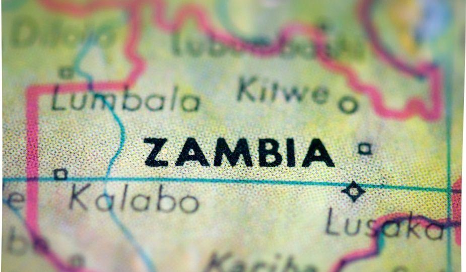 zambie zambia map carte