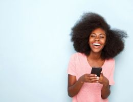 cheveux afro fille telephone