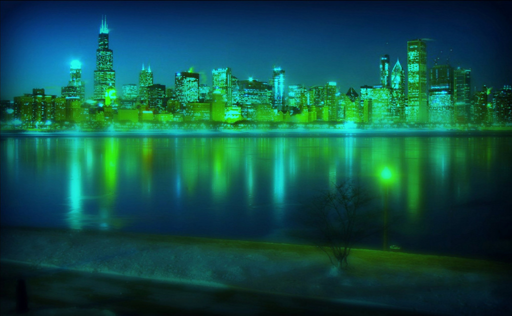 Image result for Chicago Skyline green