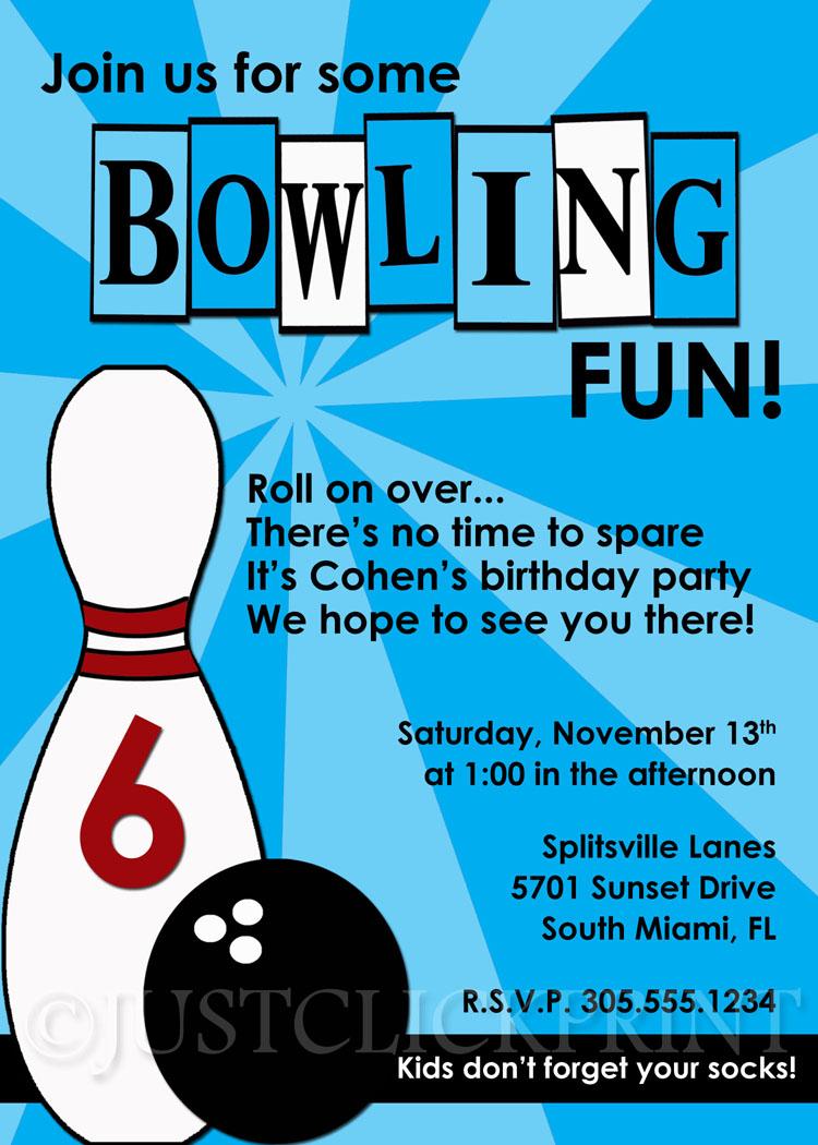boys retro bowling fun birthday