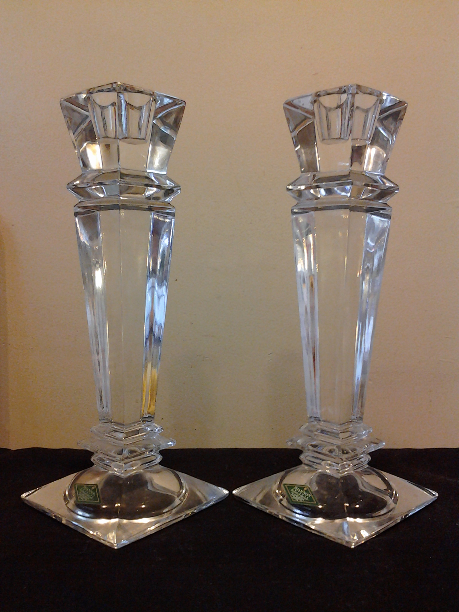 "Shannon crystal 10"" Candle Stick Holders (Set of 2"